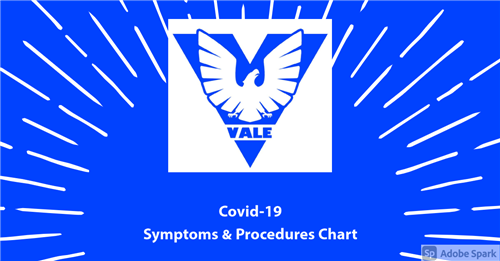 Covid Symptoms and Procedures Chart